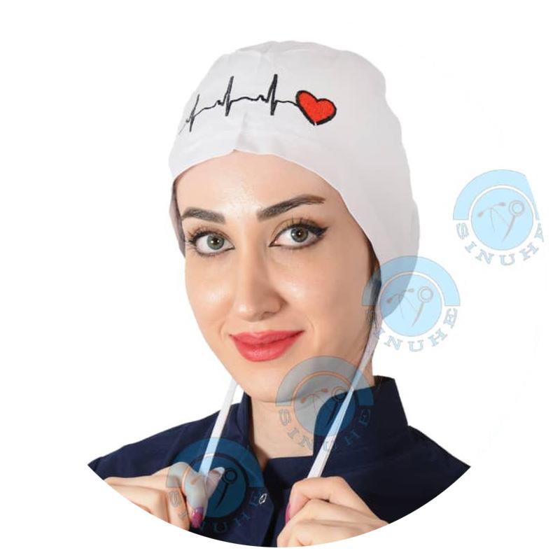 کلاه جراحی سفید (طرح قلب)برند Owlet(کوچک)